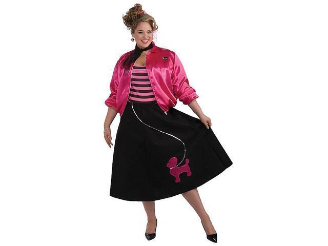 Plus Size Poodle Skirt 50s Costume Set