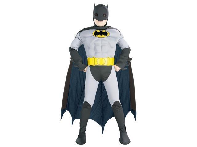 Boy's Classic Batman Muscle Chest Costume