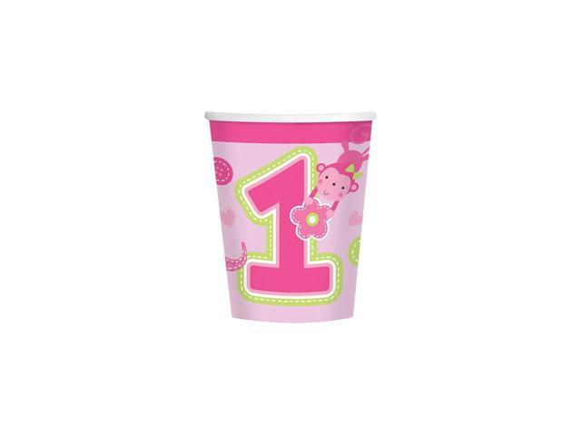 One wild girl 1st birthday 9oz cups 8 pack party for 1st birthday party decoration packs