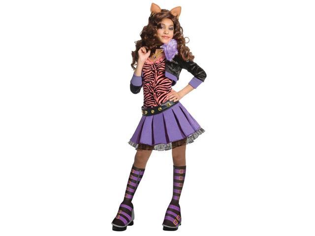 Girl's Deluxe Clawdeen Wolf Monster High Costume