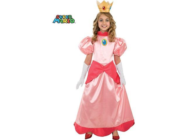 Deluxe Super Mario Bros Princess Peach Costume for Girls