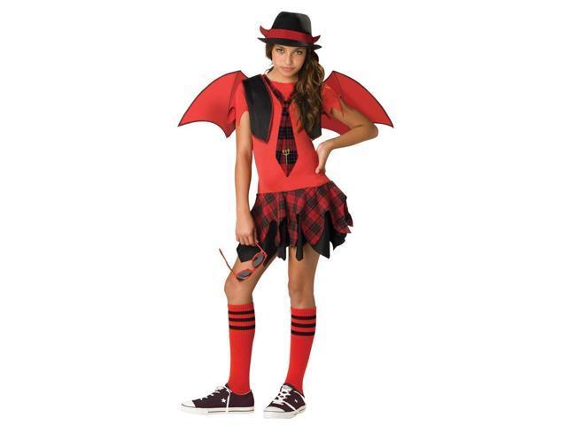 Delinquent Devil Tween Girl Costume
