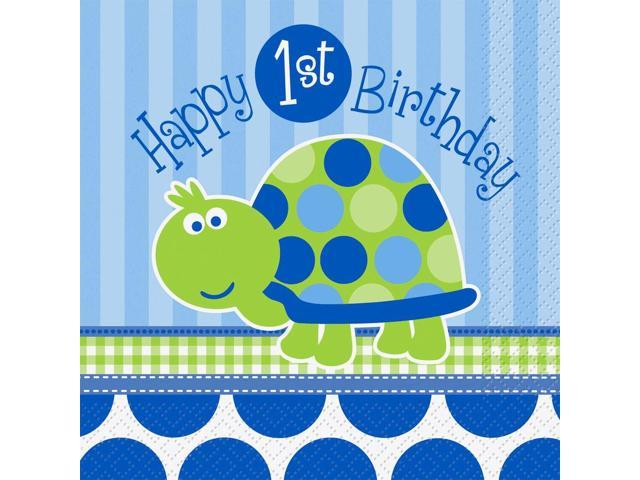 First birthday turtle luncheon napkins 16 pack party for 1st birthday party decoration packs