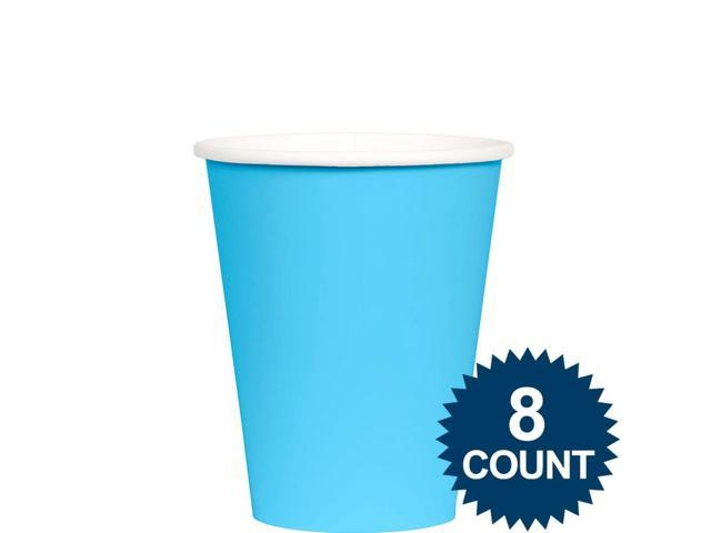 Bright Blue 9 oz. Paper Cup, 8ct. - Party Supplies