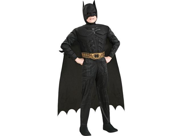 Boy's Deluxe The Dark Knight Batman Muscle Chest Costume