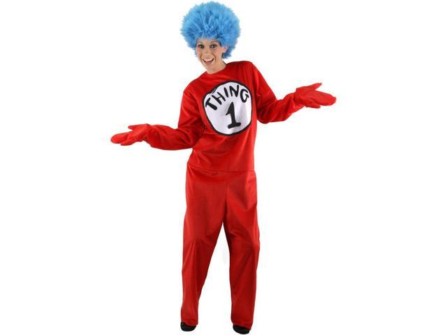 Deluxe Dr. Seuss Thing 1 or Thing 2 Adult Costume