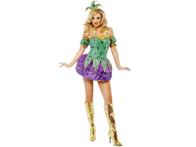 Mardi Gras Harlequin Shine with Sequins Women's Costume