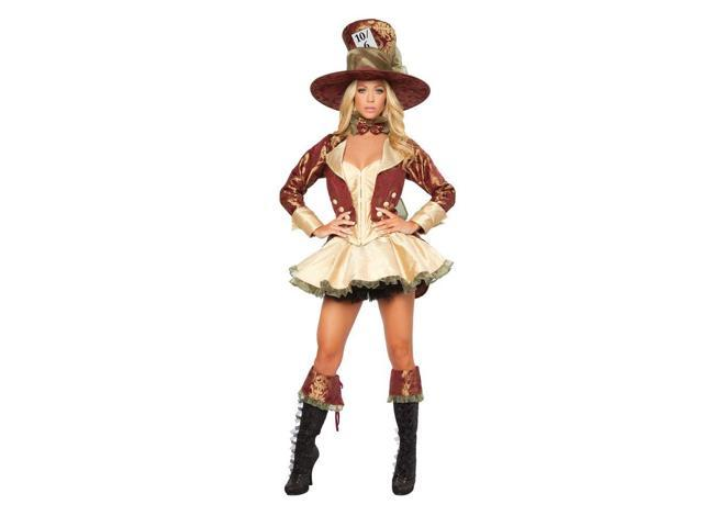 Deluxe Tea Party Hatter Women's Sexy Costume