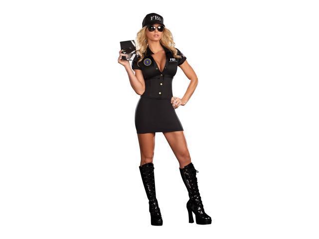 Woman's Sexy FBI Agent Mia Babe Costume