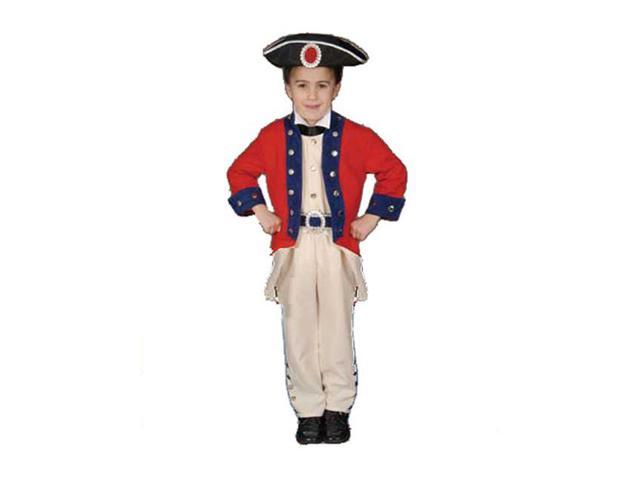 Children's Colonial Soldier Costume Set