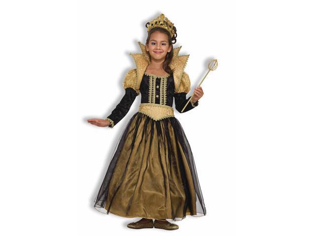 Child Gold & Black Renaissance Gown Costume Forum Novelties 62570