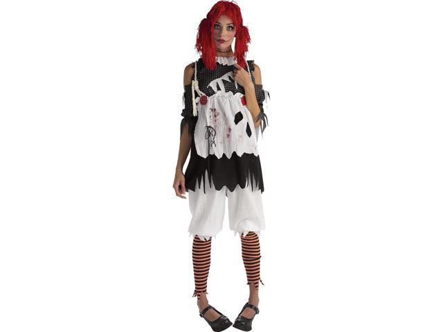 Gothic Female Rag Doll Adult Costume Large