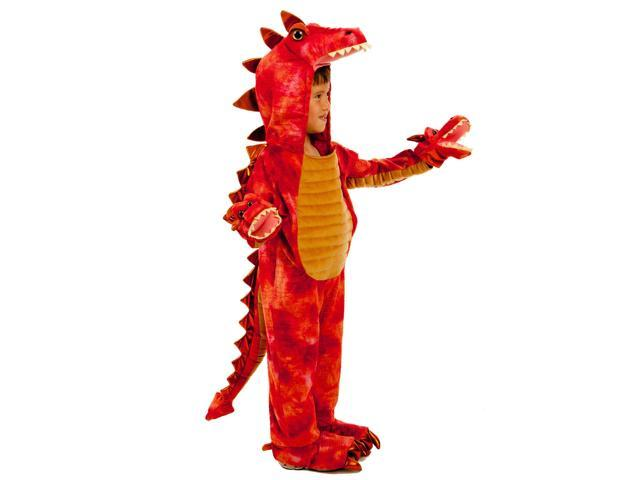 Kids Boys Red Dragon Hydra Monster Halloween Costume