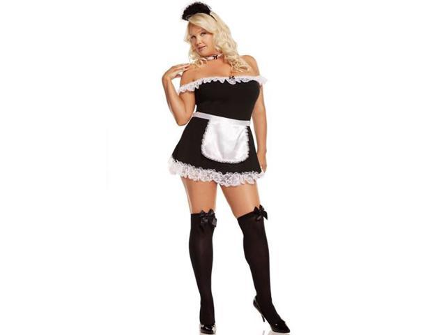 Sexy French Plus Maid Costume