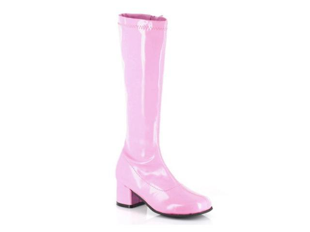 Children's Pink Patent Go Go Boots