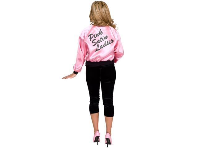 Pink Satin Lady Jacket Adult Plus Costume