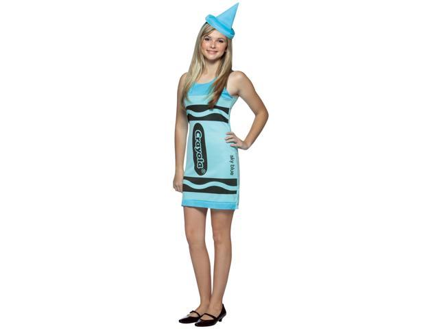 Sky Blue Crayola Crayon Tank Dress Costume Teen