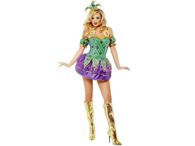 Mardi Gras Harlequin Shine with Sequins Women's Costume