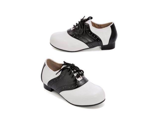 Kid's Black and White Saddle Shoes