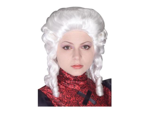 White Colonial Wig for Women