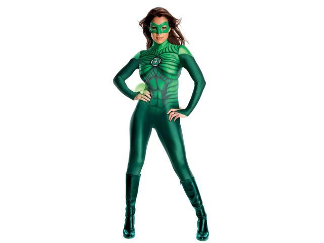 Women's Sexy Green Lantern Jumpsuit Costume