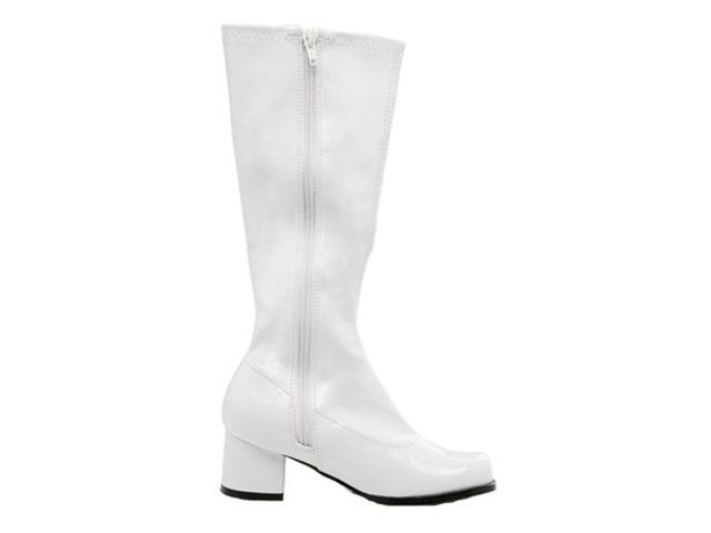Children's White Patent Go Go Boots