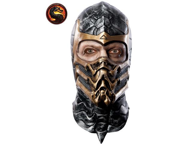 Mortal Kombat Scorpion Latex Mask for Adults