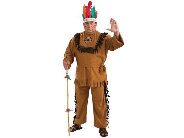 Adult Native American Indian Warrior Plus Costume