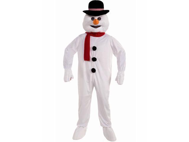Men's Snowman Mascot Adult Costume