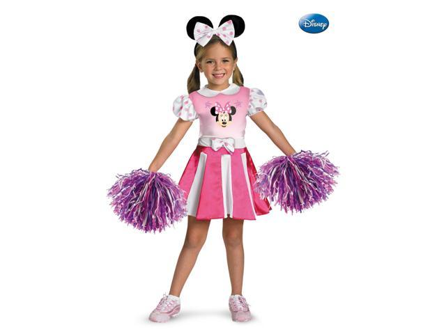Minnie Mouse Girl's Cheerleader Disney Costume