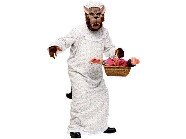 Big Bad Granny Wolf Costume - Mens