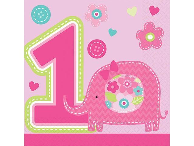 One wild girl 1st birthday beverage napkins 16 pack for 1st birthday party decoration packs