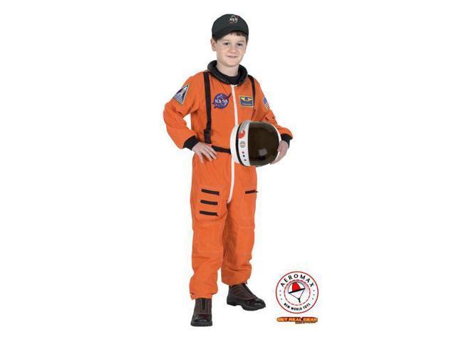 Kid's Orange Junior Astronaut Costume