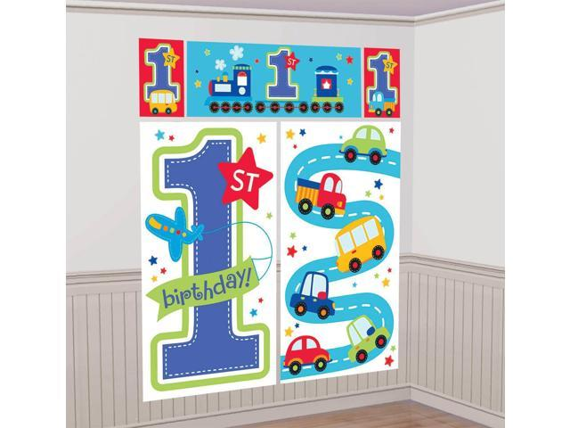 Wall Decoration Kit : All aboard st birthday wall decorating kit each party