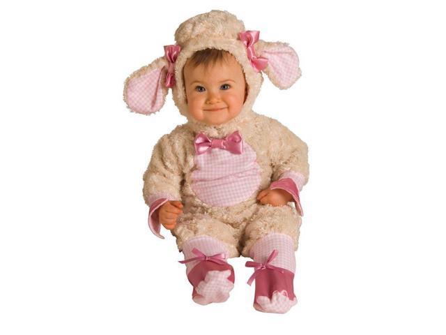 Newborn/Infant Plush Pink Lamb Costume