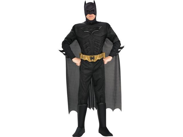 Men's The Dark Knight Deluxe Muscle Chest Batman Costume