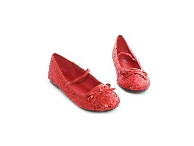 Child's Red Glitter Ballet Slipper
