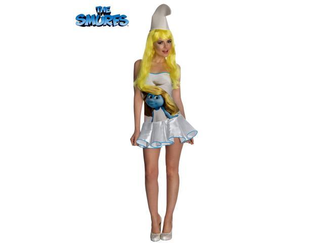Women's Sexy The Smurfs Smurfette Dress Costume