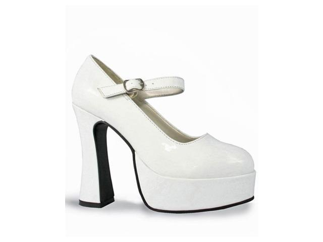 Women's White Patent Mary Jane Shoes