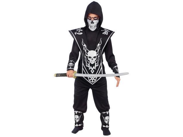 Skull Lord Boy's Silver Ninja Costume