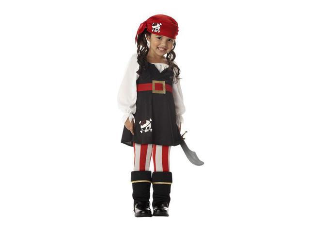 Precious Little Pirate Toddle Costume For Girls