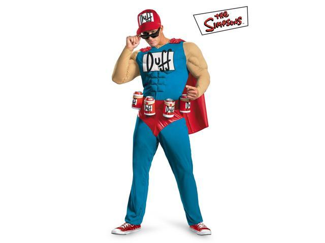 Duffman Classic Simpsons Muscle Chest Costume