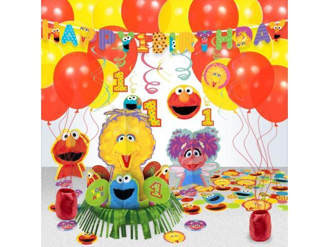 Sesame Street 1st Birthday Decoration Kit - Party Supplies-Newegg.com