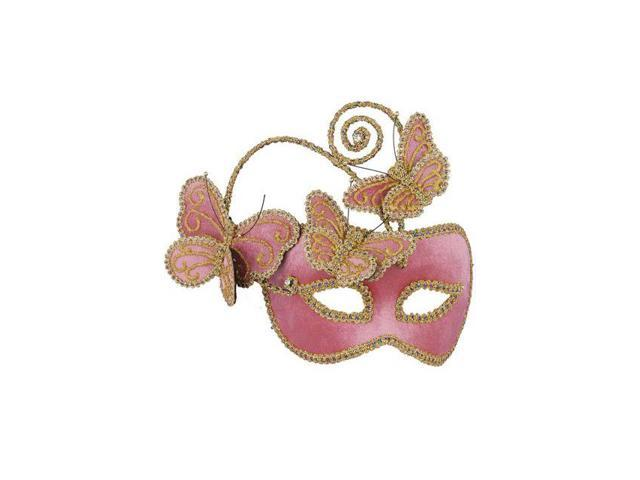 Pink Butterfly Half Mask