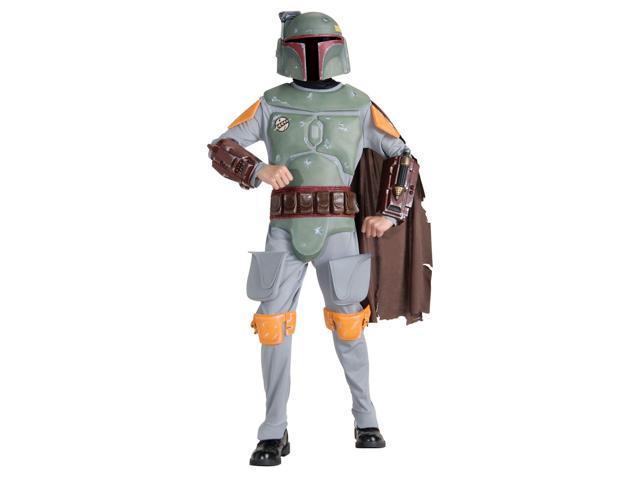Boy's Deluxe Boba Fett Star Wars Costume