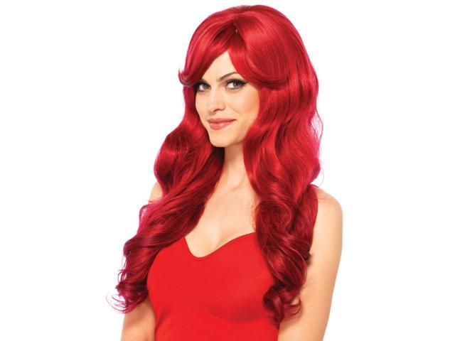 Long Wavy Wig A2722 by Leg Avenue Red One Size Fits All