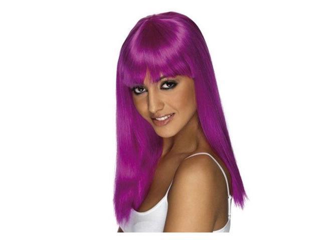 Glamarama Neon Purple Women's Wig