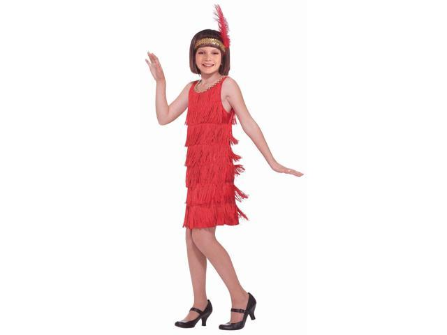 Red Girl Flapper Costume