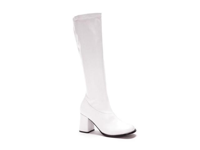 Patent Leather White Go Go Boots