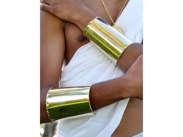 Gold Wrist Cuff Bracelets Two Piece Set